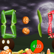 Veggie Clock 1.3 gets better HD and Halloween